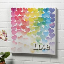 LOVE Canvas with Watercolor Paper and Mod Podge®, medium