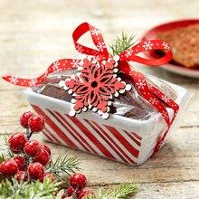 Striped Loaf Pan-Wrapped Christmas Gift, medium