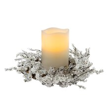 LED Candle Centerpiece with Frozen Twigs