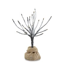 Faux Snow LED Tree with Burlap Base by Apothecary & Company