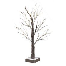 2 Ft. Faux Snow LED Tree by Apothecary & Company