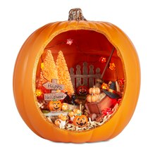 Halloween Miniatures Pumpkin Diorama, medium