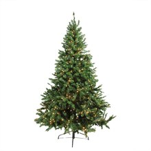 7 Ft. Pre-Lit Canadian Pine Artificial Christmas Tree, Candlelight LED Lights Lit
