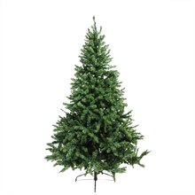 6 Ft. Pre-Lit Canadian Pine Artificial Christmas Tree, Multicolor LED Lights