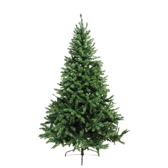 6 ft pre lit canadian pine artificial christmas tree candlelight led lights - Faux Christmas Trees