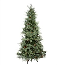 7 Ft. Pre-Lit New England Medium Artificial Christmas Tree w/ Pine Cones, Clear Lights