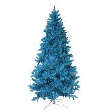 7 Ft. Pre-Lit Sparkling Sky Blue Artificial Christmas Tree, Teal Lights Lit