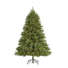 7.5 Ft. Pre-Lit Belvedere Spruce Artificial Christmas Tree, Clear LED Lights