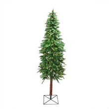 6 Ft. Pre-Lit Two-Tone Alpine Artificial Christmas Tree, Clear Lights Lit