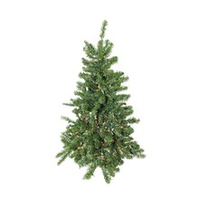 4 Ft. Pre-Lit Canadian Pine Artificial Christmas Tree, Clear Lights