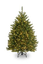 4 Ft. Pre-Lit Northern Dunhill Fir Full Artificial Christmas Tree, Clear Lights