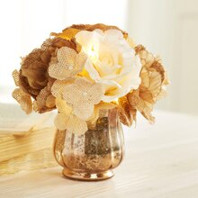 Lighted Burlap Mini Arrangement, medium