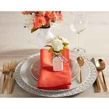 Floral Table Setting with White Charger, medium