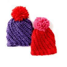 Loops & Threads® Vivid Swirl Knit Hat, medium