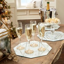 Shimmer Noel Frosted Table Mirrors, medium