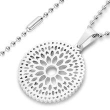 ELYA High Polished Floral Stainless Steel Pendant