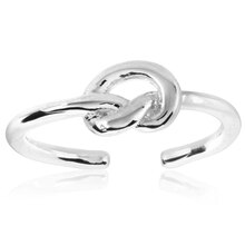 ELYA Polished Love Knot Stainless Steel Open Ring, 8