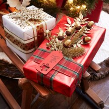 Classic Christmas Floral Embellished Gift Package, medium