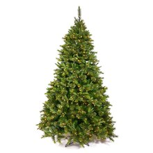 6.5 Ft. Pre-Lit Cashmere Mixed Pine Full Artificial Christmas Tree, Clear Dura Lights