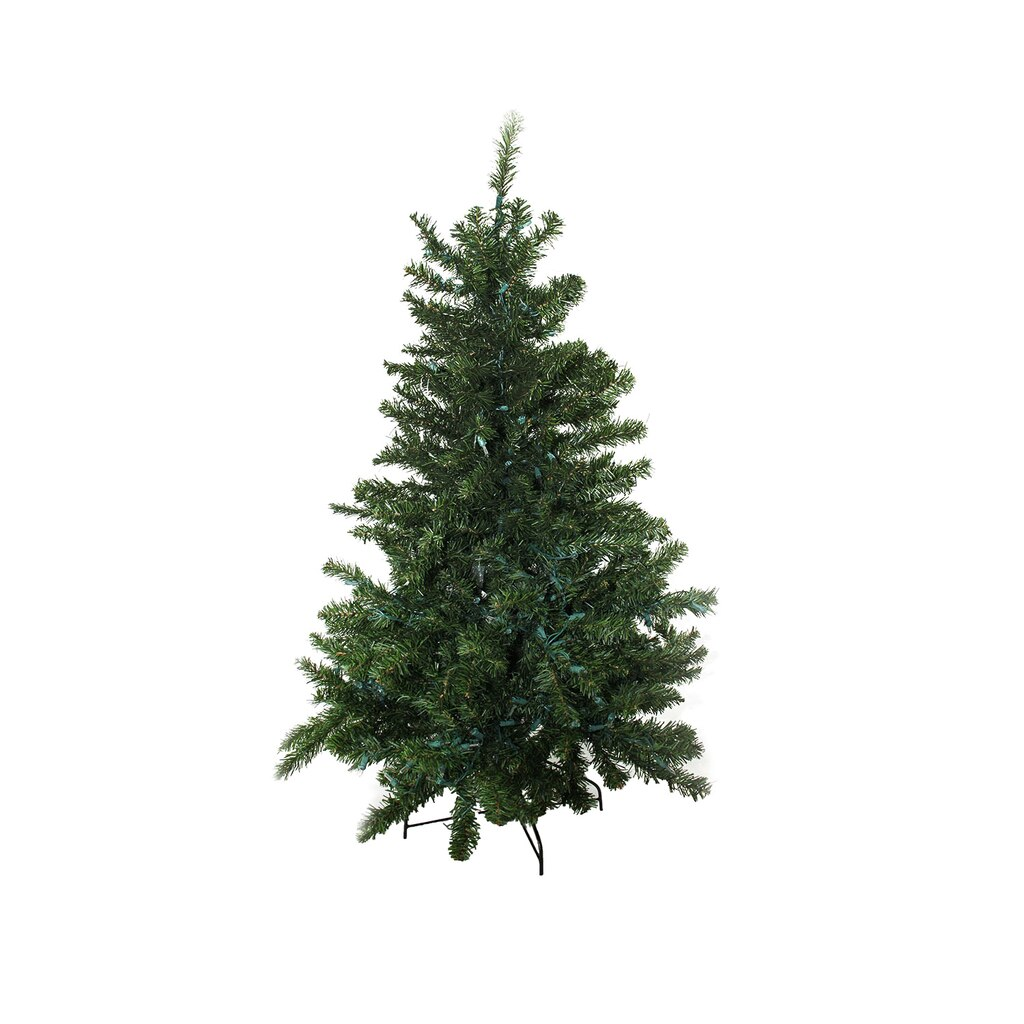 4 Ft Pre Lit Canadian Pine Artificial Christmas Tree
