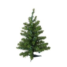"18"" Pre-Lit Natural Two-Tone Pine Artificial Christmas Tree, Multi-Color Lights"
