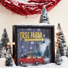 Christmas Tree Farm Shadow Box, medium
