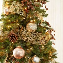 Glitter Ribbon-Wrapped Christmas Tree, medium