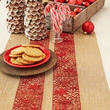 Glitter Ribbon Christmas Table Runner, medium