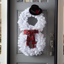 Snowman Wreath, medium