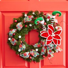 Classic: Red and Green Christmas Wreath, medium