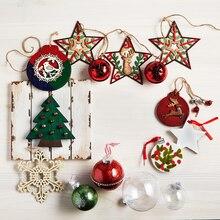 Laser-Cut Wood Cardinal Wreath Christmas Ornament, medium
