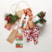 Season's Greetings Kraft Gift Tag, medium