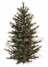 4 Ft. Country Mixed Pine Artificial Christmas Wall or Door Tree, Unlit