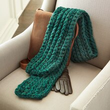 Loops & Threads® Chunky Braid Green Scarf, medium