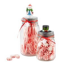 Snowman Miniature Jars, medium