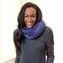 Loops & Threads® Facets Sapphire Crochet Cowl, medium