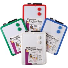 Magnetic Dry Erase Board with Marker & Magnets, 6 Count