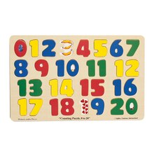 Numbers 0-20 Jumbo-Sized Wood Puzzle