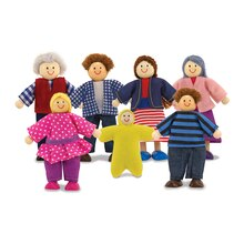 Wooden Doll Family, 7 piece set