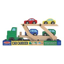 Car Carrier Truck & Cars Wooden Toy Set Packaged