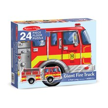 Giant Fire Truck Floor Puzzle, 24 pcs Package