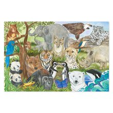 Endangered Species Floor Puzzle Completed