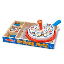 Birthday Party Wooden Play Food In Box