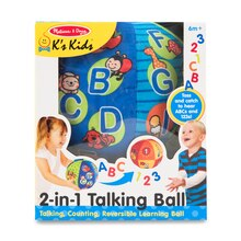 2-in-1 Talking Ball Learning Toy In Box Front