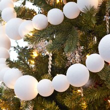 Peppermint Lane Snowball Garland, medium