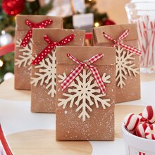 Peppermint Lane Snowflake Favor Bags, medium