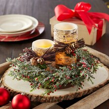 Pine Cone Lodge Candle Centerpiece, medium