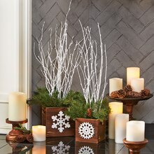 Holiday Branch Planters, medium