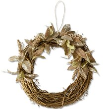 Metallic Floral Holiday Wreath, medium