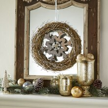 Metallic Snowflake Wreath, medium